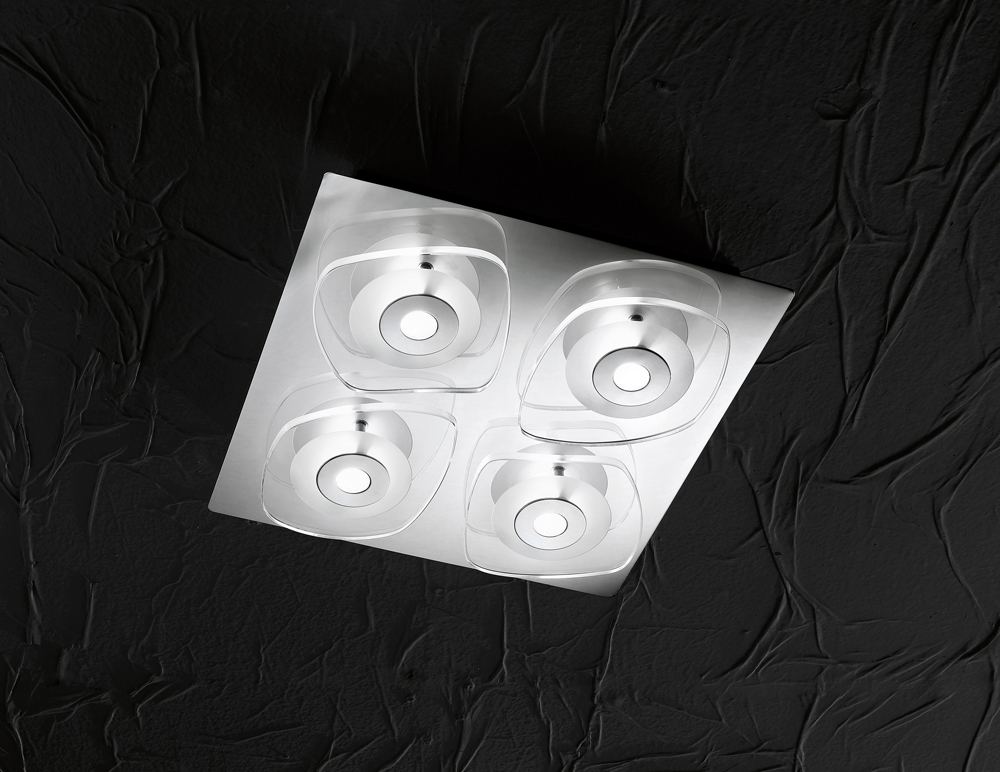 Plafoniera Led Cu Telecomanda : Plafoniera moderna iluminat led curado globo lighting